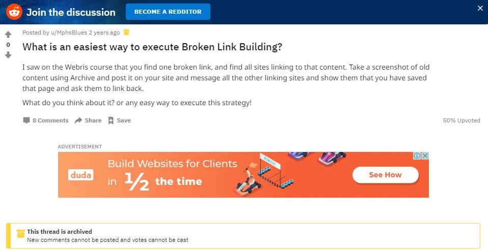 execute broken link building