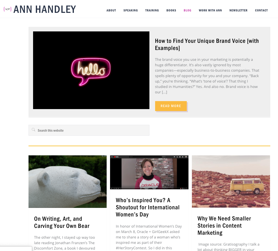 Ann Handley Blog